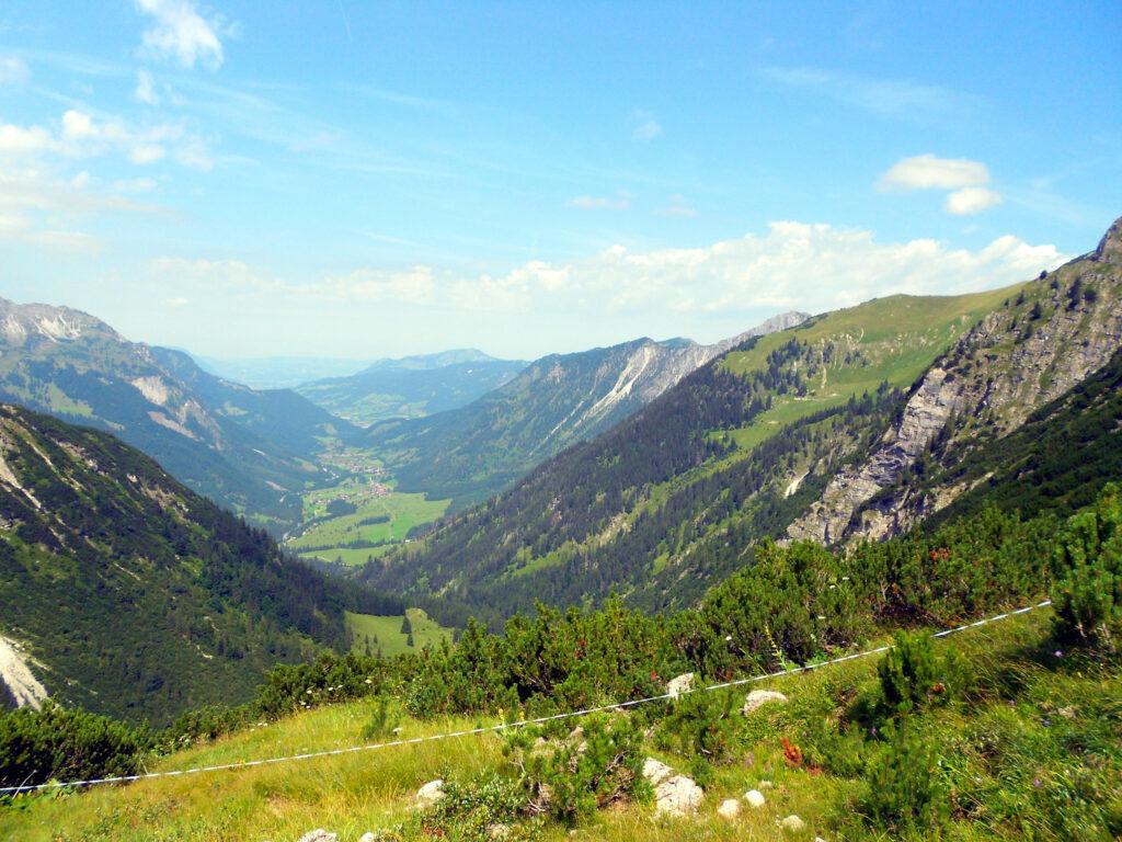 Blick ins Hintersteiner Tal vom Schrecksee