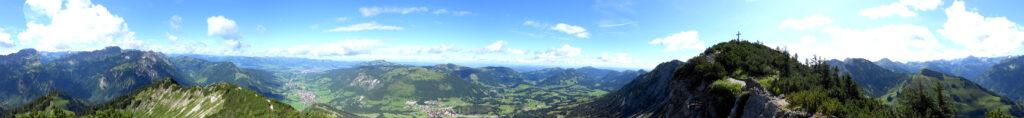 Panorama Ausblick vom Iseler
